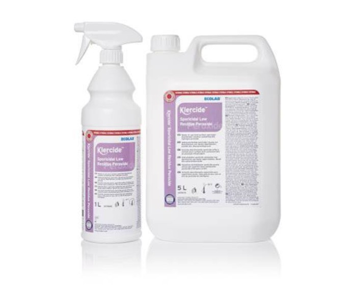 מי חמצן Klercide Low Residue Peroxide, ביגוד חד פעמי/מתכלה אנטי סטטי/לחדרים נקיים, מכשירי חיטוי וניקוי של חברת wasenburg, ציוד ומכשור למחלקת אופתלמולוגיה