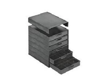 6 drawers conductive case, 275x336 81 1, קופסאות הקפאה למעבדות